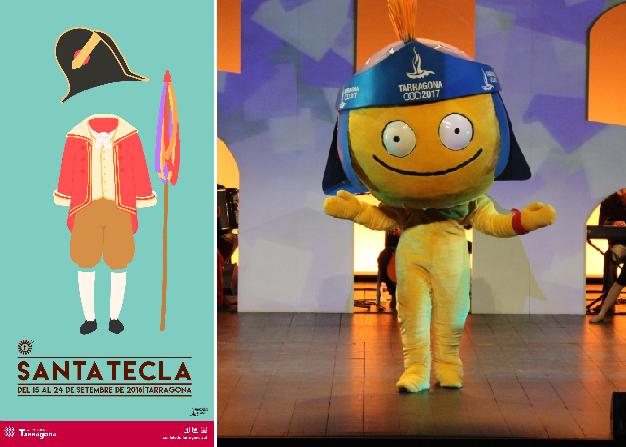 cartell santa tecla 2016 i mascota tarracus digues la teva